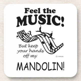 Sensación de la mandolina la música posavasos de bebidas