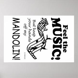 Sensación de la mandolina la música póster
