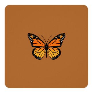 """Sensación de la mariposa de monarca invitación 5.25"""" x 5.25"""""""