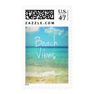 Sensación de la playa sellos postales