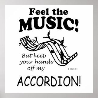 Sensación del acordeón la música poster