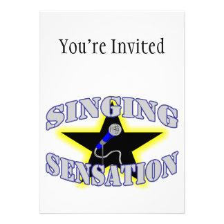 Sensación del canto invitaciones personales