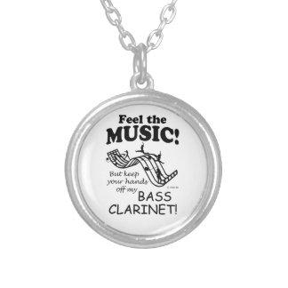 Sensación del clarinete bajo la música pendientes personalizados