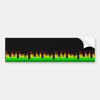 Sensación del equalizador del golpe de la música etiqueta de parachoque