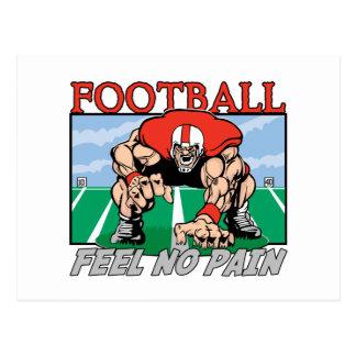 Sensación del fútbol ningún dolor tarjeta postal