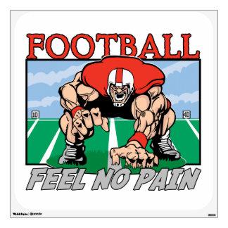 Sensación del fútbol ningún dolor vinilo decorativo