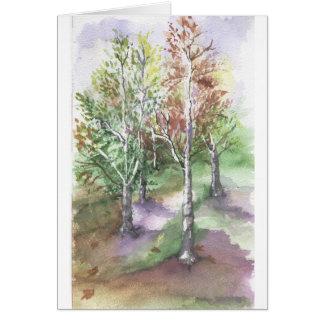 sensación del otoño tarjetas