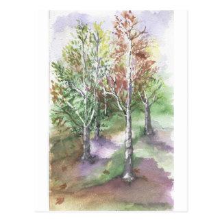 sensación del otoño tarjeta postal