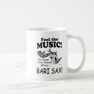 Sensación del saxofón de Bari la música Taza De Café