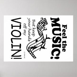 Sensación del violín la música póster