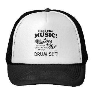 Sensación determinada del tambor la música gorros