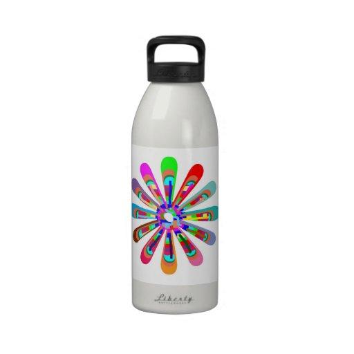 Sensación FELIZ:  Arte gráfico de la flor CHAKRA Botellas De Beber