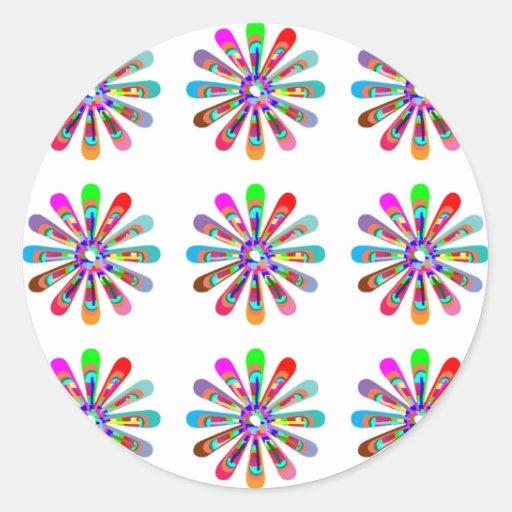 Sensación FELIZ:  Arte gráfico de la flor CHAKRA Etiqueta