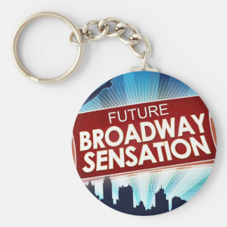 Sensación futura de Broadway Llavero Redondo Tipo Pin