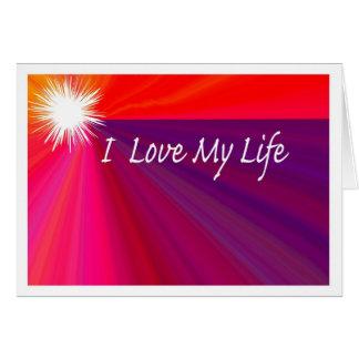 Sensación positiva - ame mi vida - vida del amor tarjeta de felicitación