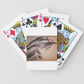 Sensación roja negra baraja cartas de poker
