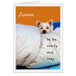 Sensación un mejor, acogedor y cómodo perro de Wes Tarjeta De Felicitación