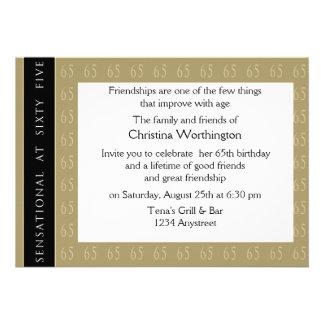 Sensacional en la invitación de 65 fiestas