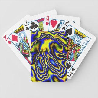 Sensaciones abstractas locas, azules baraja de cartas