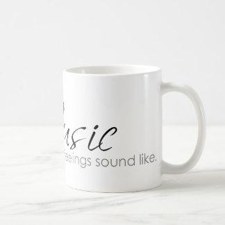 Sensaciones de la música taza básica blanca