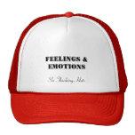 Sensaciones y emociones, seis gorras de pensamient