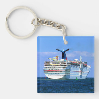 Sensation Stern Double-Sided Square Acrylic Keychain