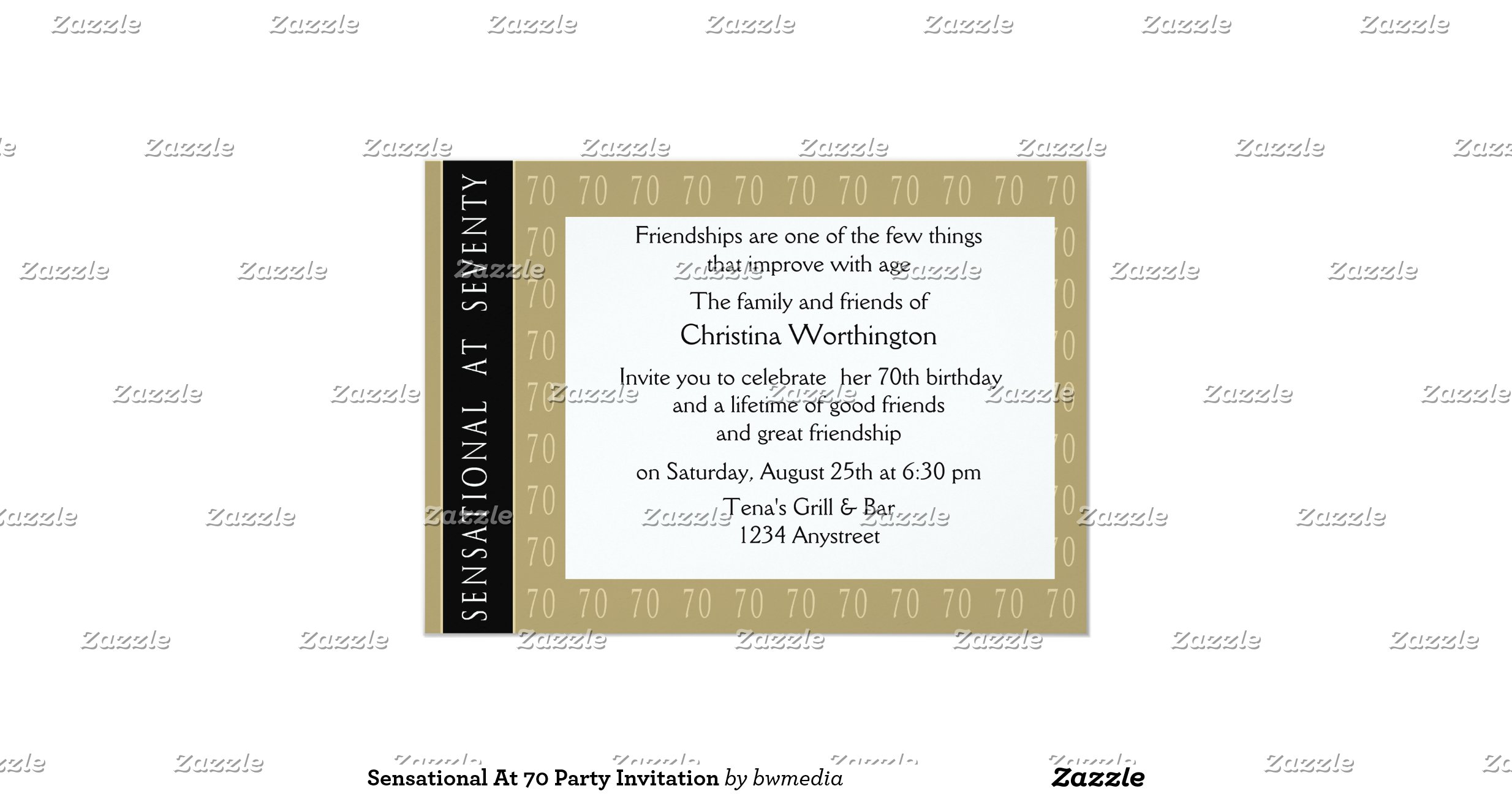 70 And Sensational Birthday Invitations