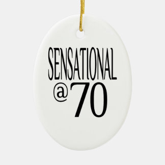 Sensational at Seventy Ceramic Ornament