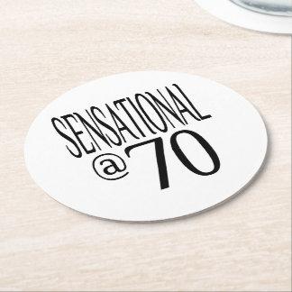 Sensational at Seventy Round Paper Coaster