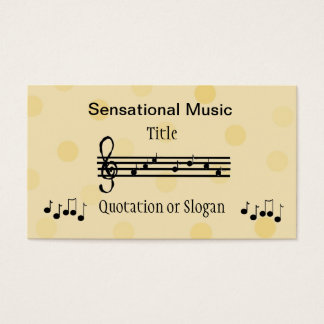 Sensational Music Business Business Card