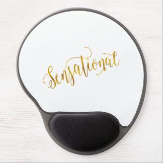 Sensational Quote Gold Faux Foil Inspiration White Gel Mouse Pad