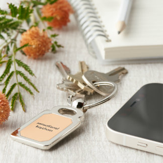 Sensational rectangle keychain