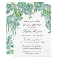 Sensational Succulents Bridal Shower Invitations