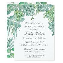 Sensational Succulents Bridal Shower Invitations