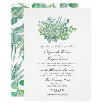 Sensational Succulents Wedding Invitations