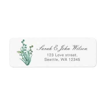 Sensational Succulents Wedding Label