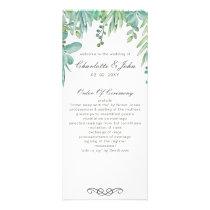 Sensational Succulents Wedding Programs