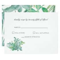 Sensational Succulents Wedding RSVP cards