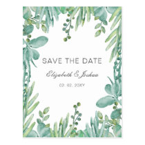 Sensational Succulents Wedding Save the Date Postcard