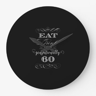 Sensationally 60 Birthday Party Gift Large Clock