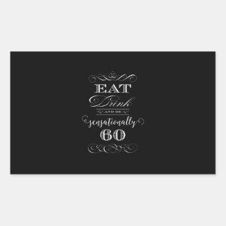 Sensationally 60 Birthday Party Gift Rectangular Sticker