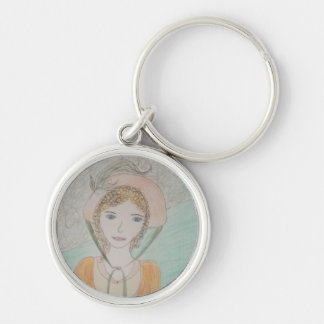 Sense and Sensibility Silver-Colored Round Keychain