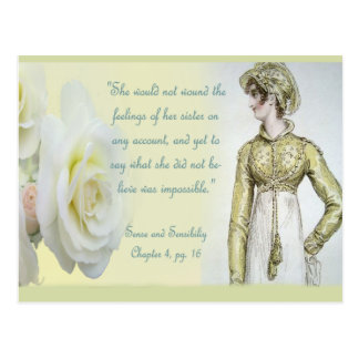 Sense and Sensibility Sister Quote Postcard