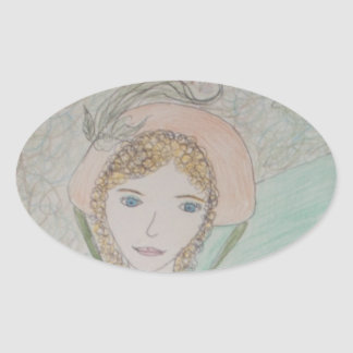 Sense and Sensibility Oval Stickers