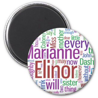 Sense and Sensibility Word Cloud Magnet