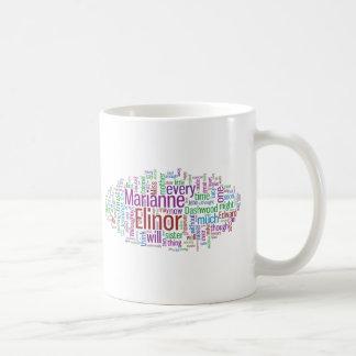 Sense and Sensibility Word Cloud Classic White Coffee Mug