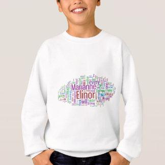 Sense and Sensibility Word Cloud Sweatshirt