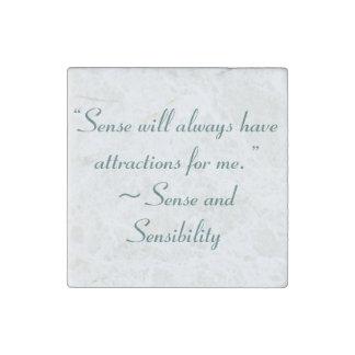 Sense Will Always Attract Me Jane Austen Quote Stone Magnet