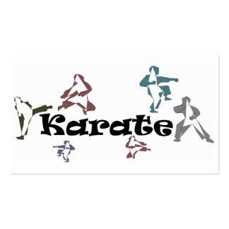 sensei de la correa negra del karate de las tarjet tarjetas de visita