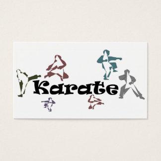 sensei de la correa negra del karate de las tarjetas de visita